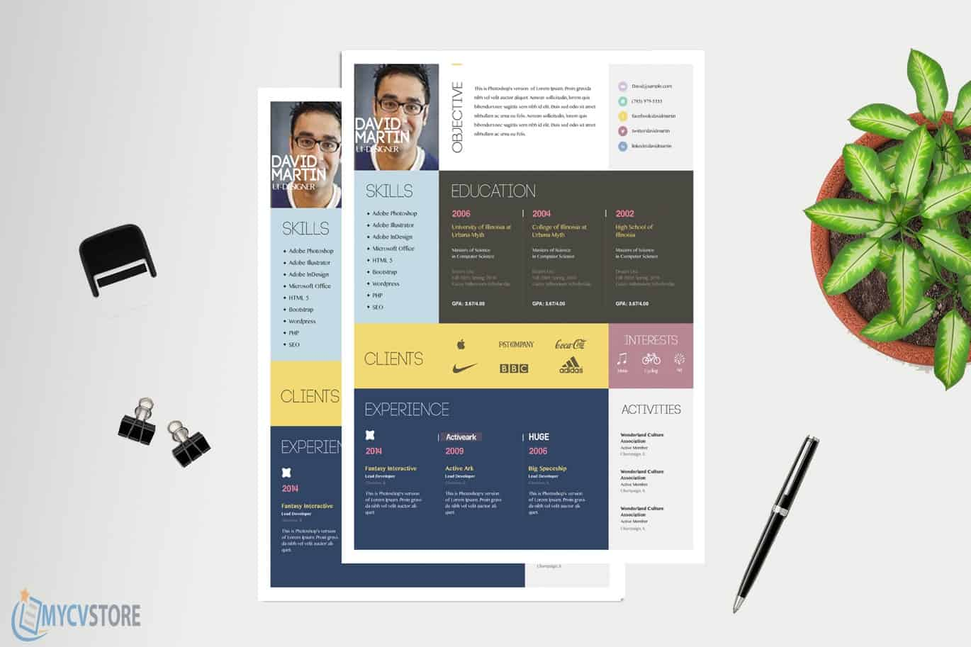Colorful-CV-Template1