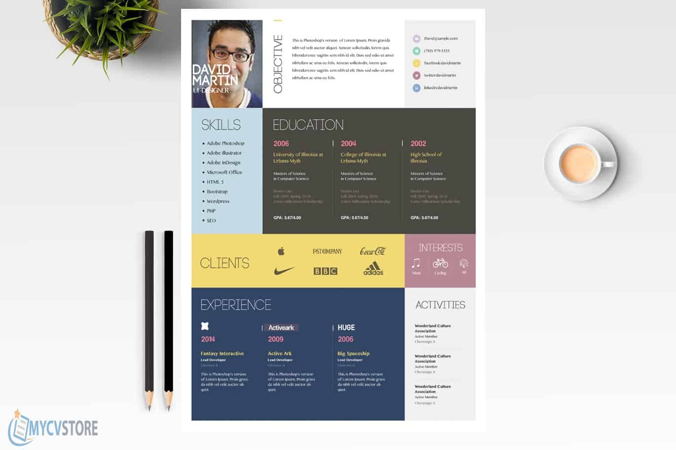 Colorful-CV-Template2