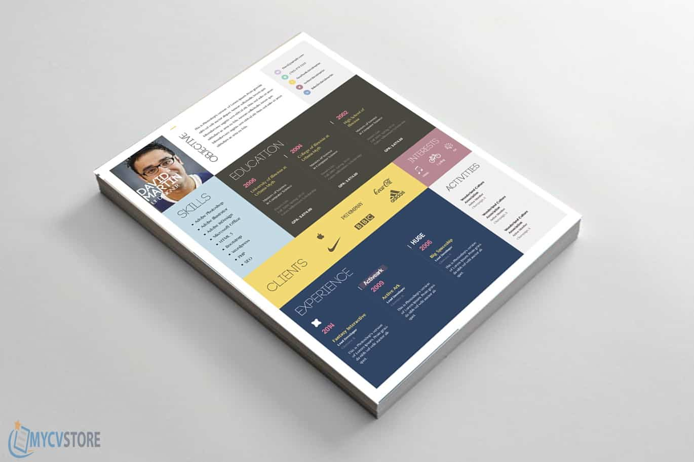 Colorful-CV-Template3