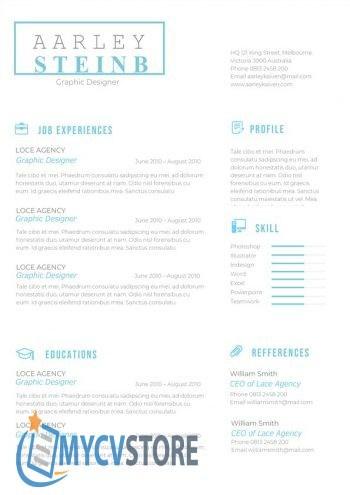 Modern Minimalist CV Template