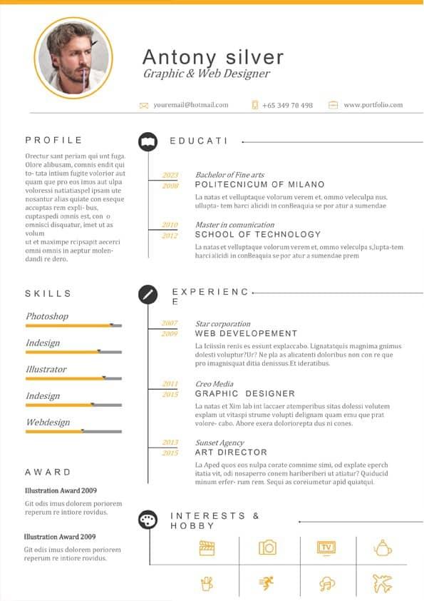 Web Designer Resume Template Download For Word