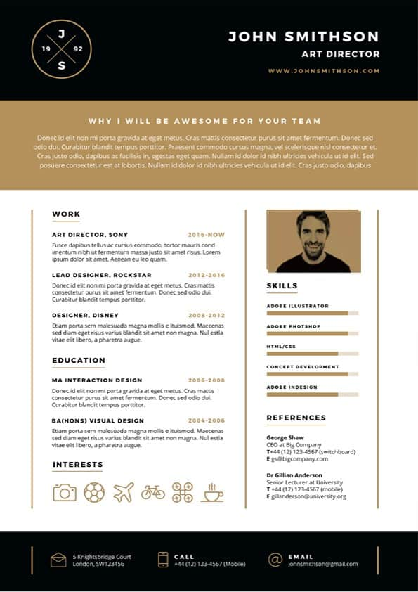 Clean Bold Resume Template