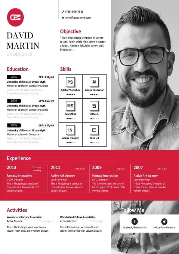 Clean Business Resume Template