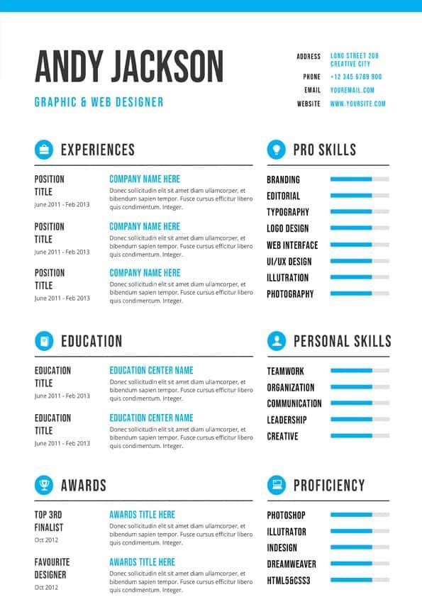 Professional & Clean CV Template
