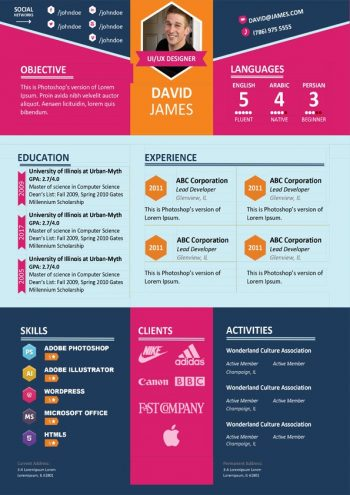 Colorful Stylish Resume Template