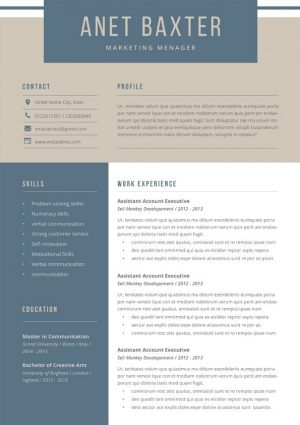 Marketing Resume Word Template