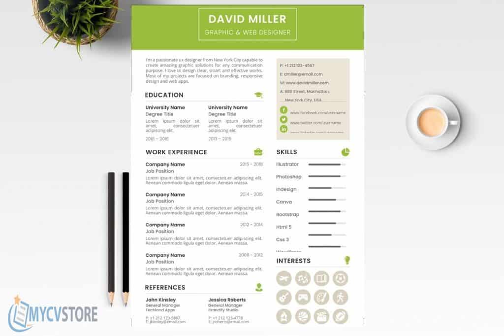 Modern Designer CV Template