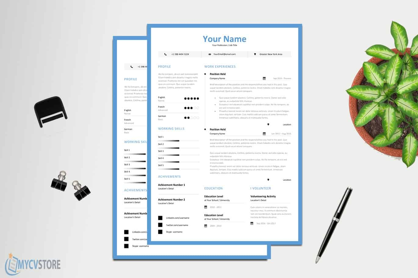 Clean Junior Resume/CV Template