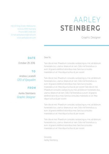 Clean Minimalist Cover Letter Template