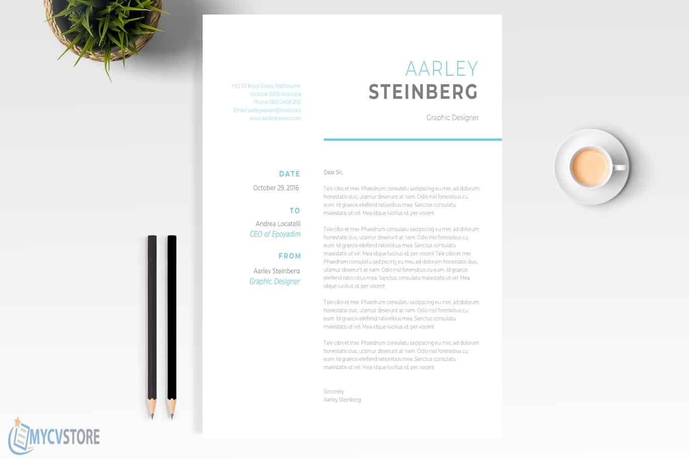 Clean Minimalist Cover Letter