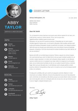 Editable Cover Letter Traduction Resume Cv Template