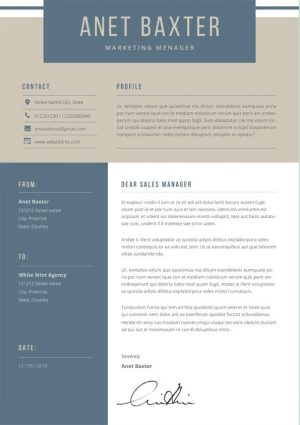 Marketing Cover Letter Word