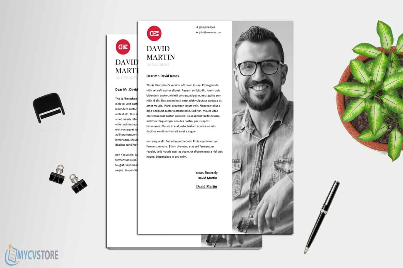 Clean Business Cover Letter Template