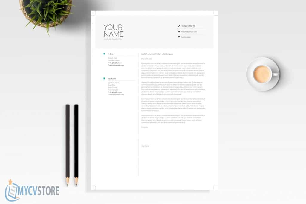 Clean Infographic Cover Letter Template
