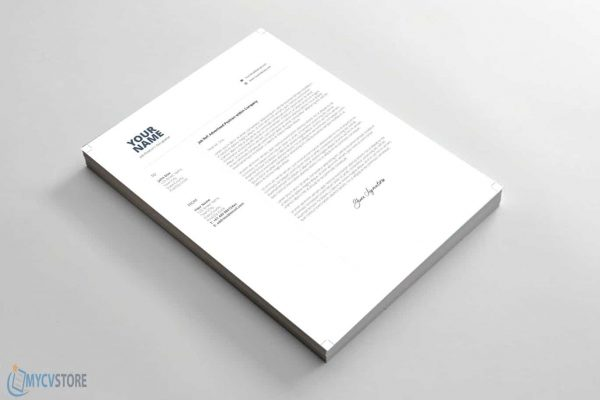 Clean Simple Cover Letter Template