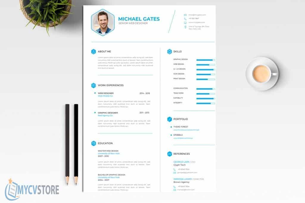 Clean CV Resume Template