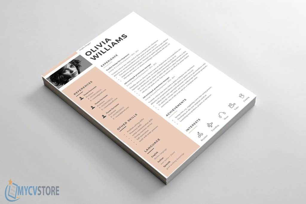 clean original cv template