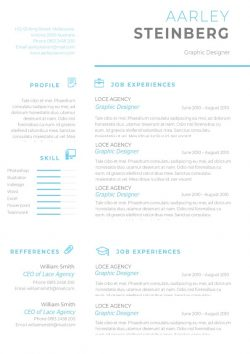 Clean Minimalist Resume Template