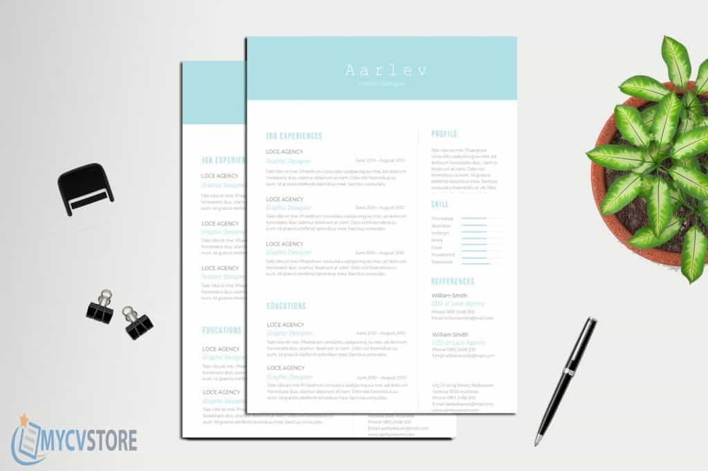 Clean Minimalist Resume/CV Template