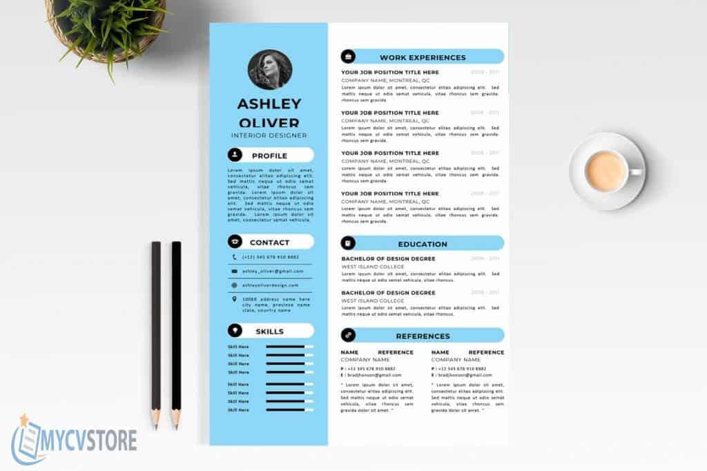 interior designer cv template