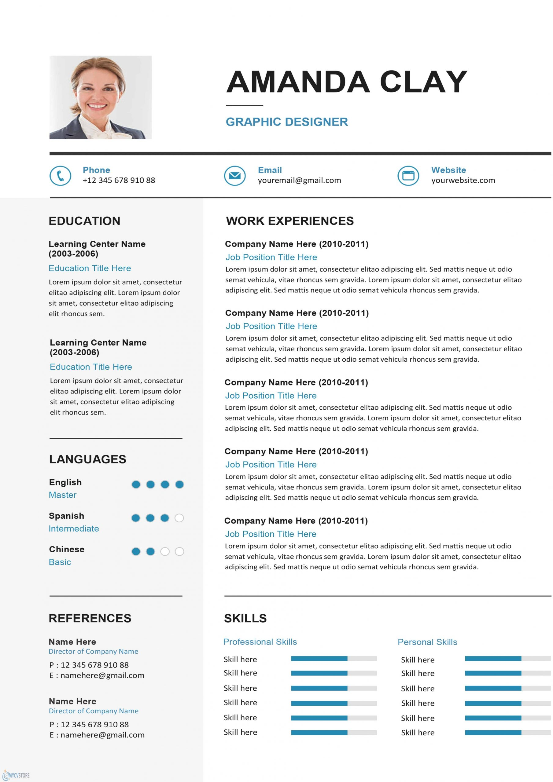 Clean Resume Cv Template Download For Word