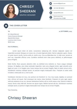 Fresh Clean Cover Letter Template