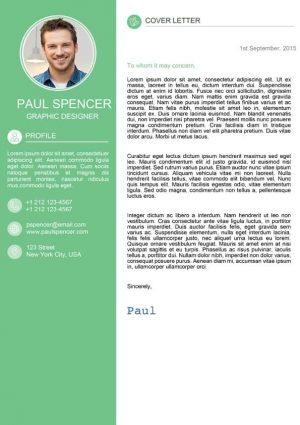 Green Modern Cover Letter Template