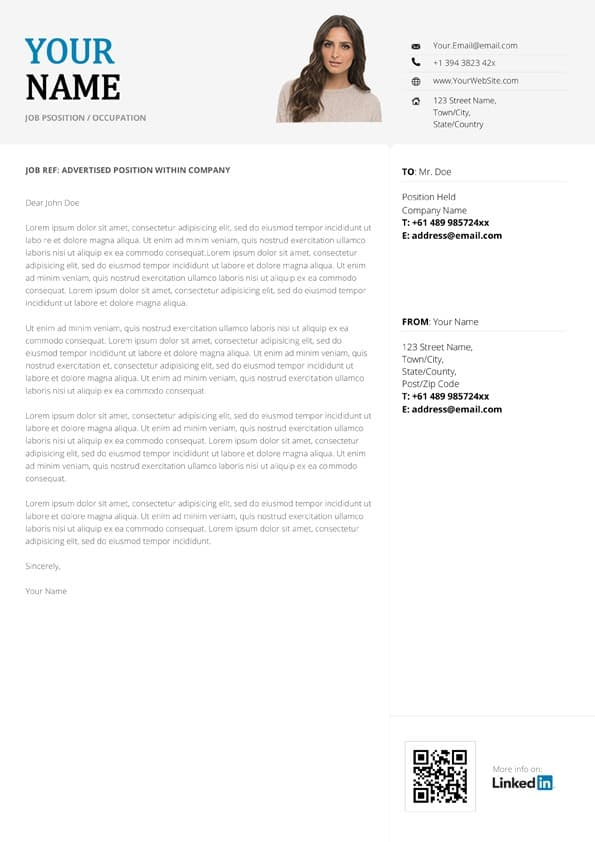 Creative Infographic Cover Letter