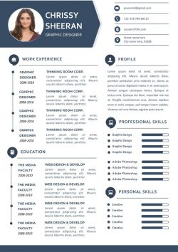Fresh Clean Resume Template