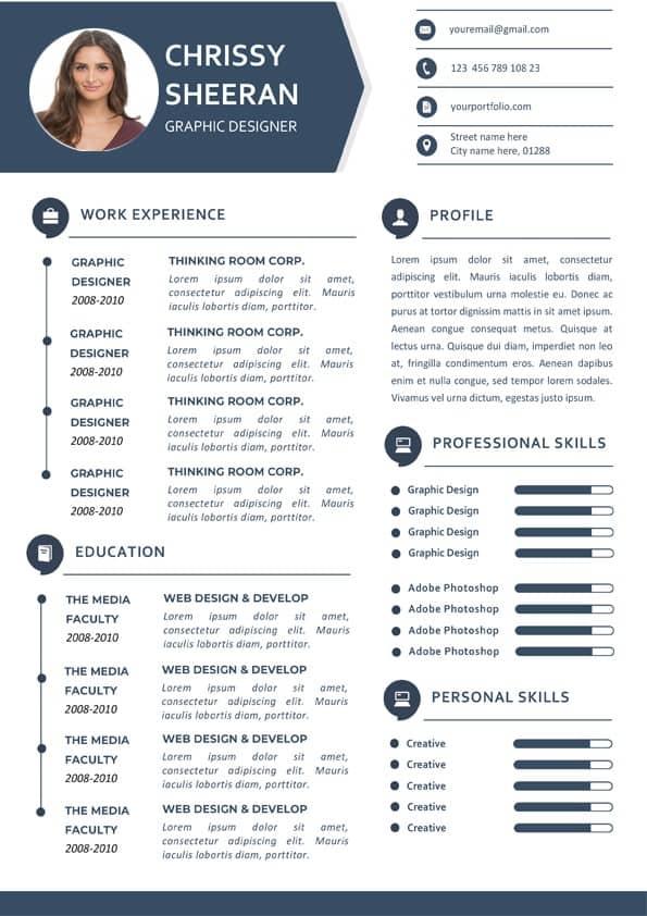 Fresh Clean Resume Template