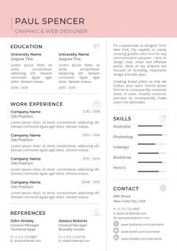 Job CV Resume Template