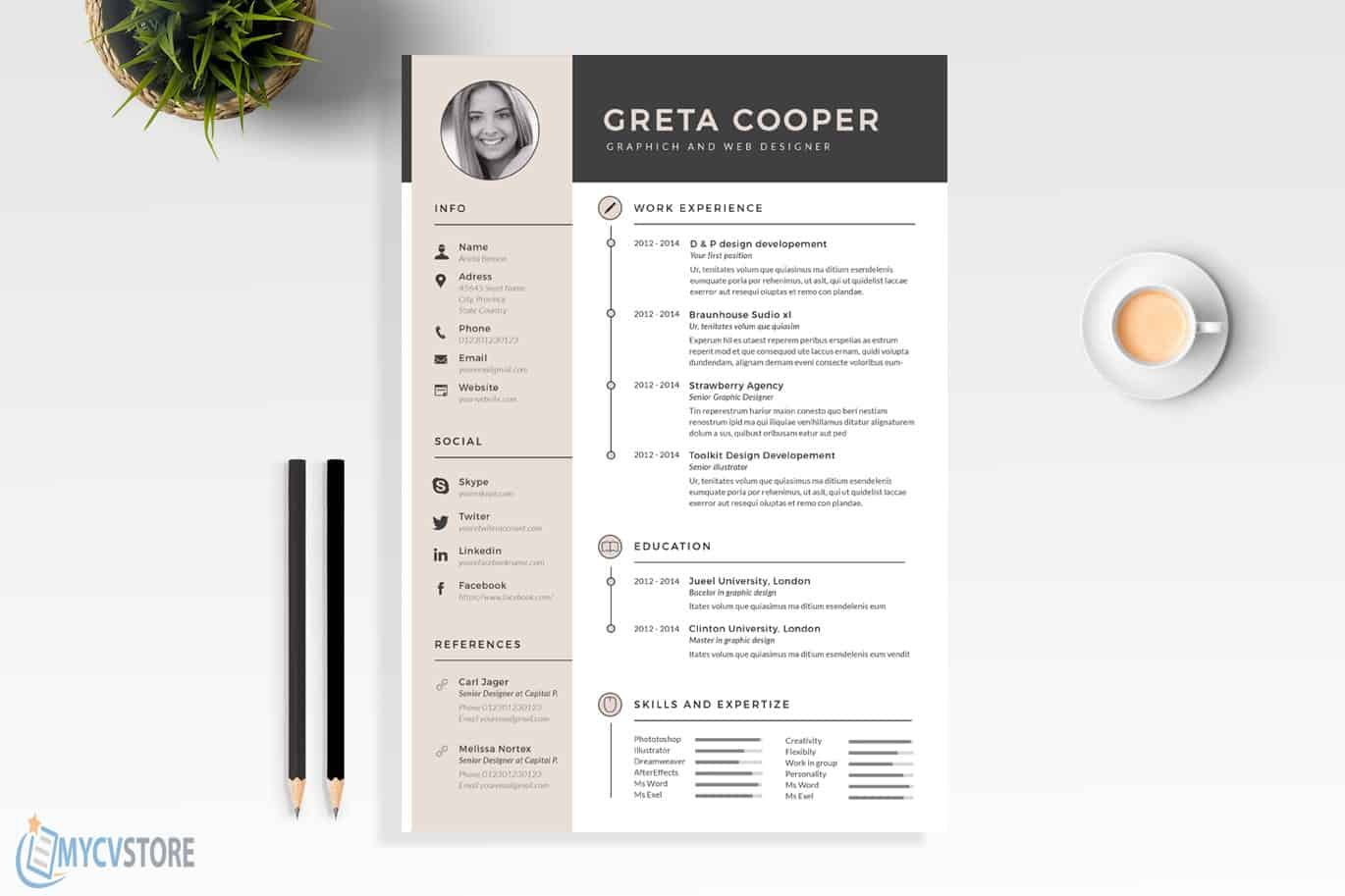 Super Clean Resume Template