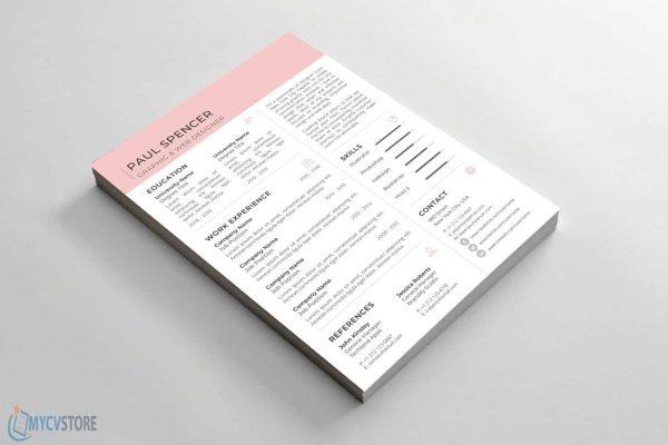 Job CV Resume Template