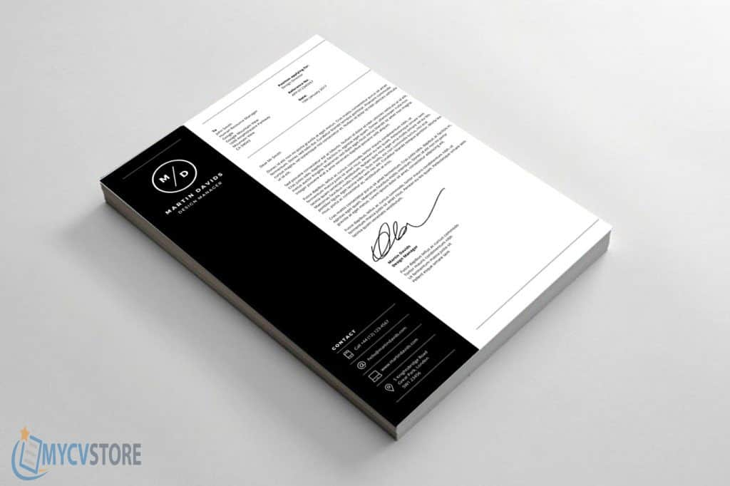 Design Manager Cover Letter - Downloadable Cover Letter Template