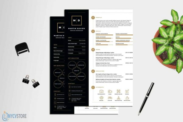 Design Manager CV Template
