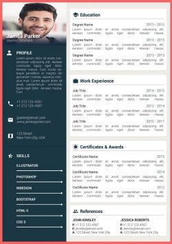 Material Resume Template