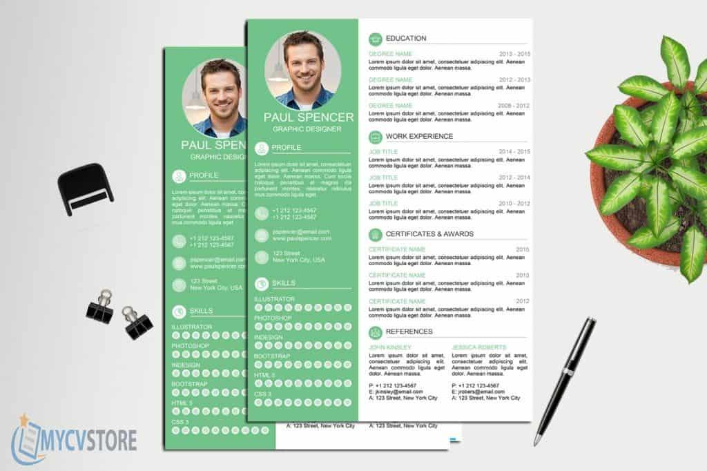 Green Modern Resume Template