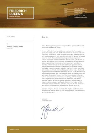 Swiss Cover Letter Template