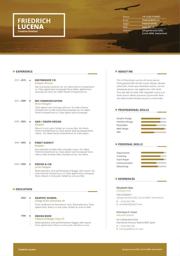 Swiss Resume Template