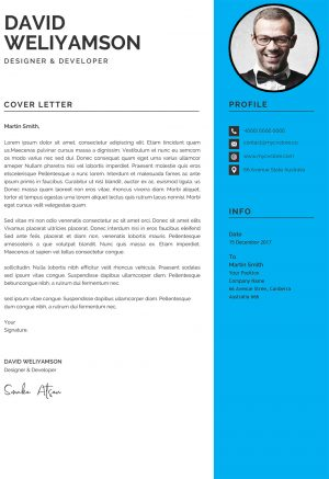 Clean Design Cover Letter 1