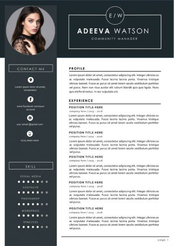 Community Manager Resume Template
