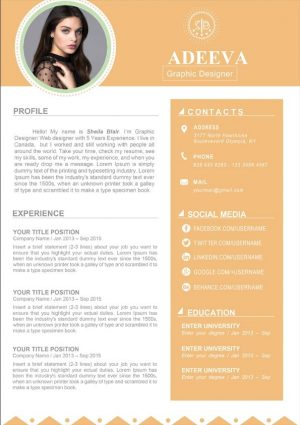 Blair Clean Resume Template
