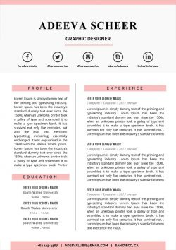 Scheer Resume Template