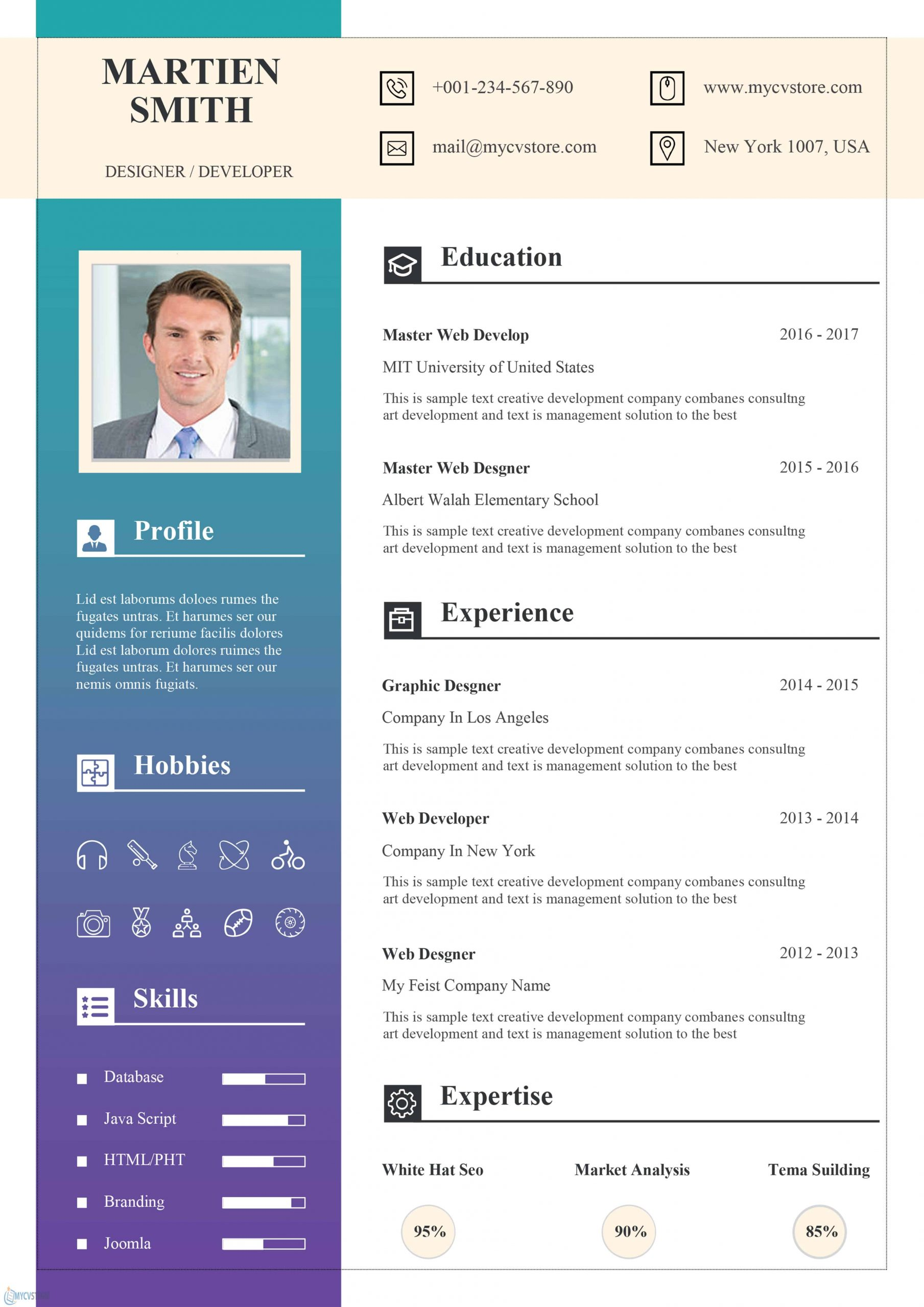 Stationary Resume Template - Resume for Word [Download Now]