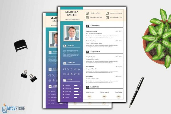 Stationary Resume Template
