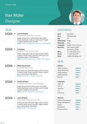 Swiss Style Resume Template
