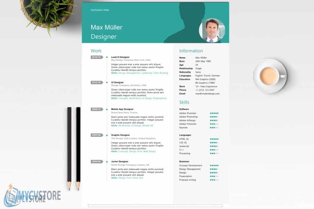 Swiss Style Resume Template1