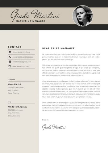 Digital Marketing Cover Letter Template