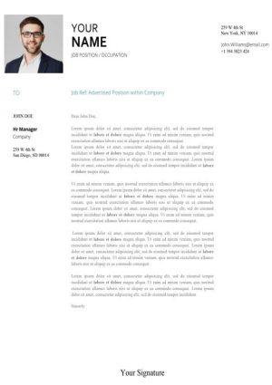 Sample Cover Letter Template