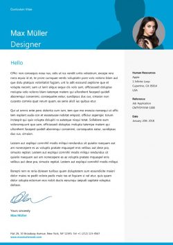 Swiss Style Cover Letter